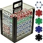 Trademark Poker 1000 Dice-Striped Poker Chips With Acrylic