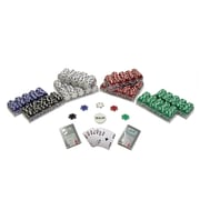 Trademark Poker™ 1000 Dice Striped Poker Chips Texas Hold em Set