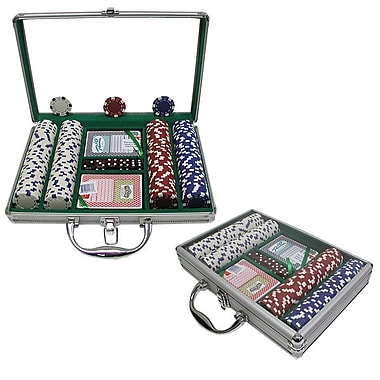 Trademark Poker™ 200 Dice Striped Chips With Clear Cover Aluminum Case
