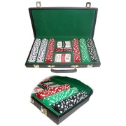 Trademark Poker™ 300 Dice Striped Chips With Case