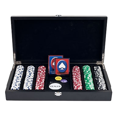 Trademark Poker™ 300 Dice Striped Chips With Las Vegas Sign Case
