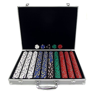 Trademark Poker™ 1000 13gm Pro Clay Casino Chips With Aluminum Case