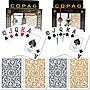 Copag Poker & Bridge Jumbo Index Card, Black/Gold