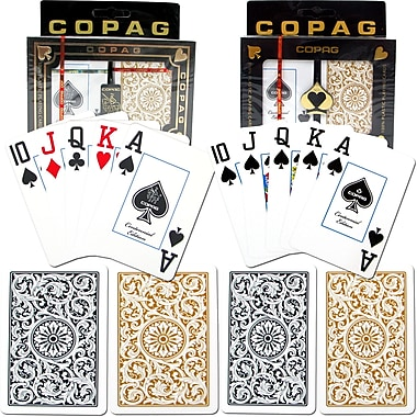 Copag Poker & Bridge Jumbo Index Card, Black/Gold