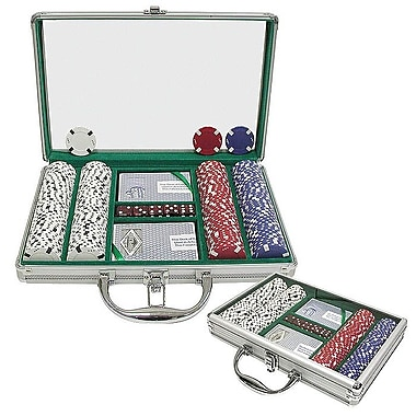 Trademark Poker™ 200 Chip Texas Hold'Em Set With Clear Cover Aluminum Case