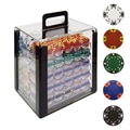 Trademark Poker™ 1000 Tri Color Ace/King Clay Poker Chips With Acrylic Case