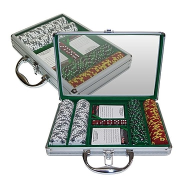 Trademark Poker™ 200 Tri Color Ace/King Suited Chips With Clear Top Case