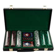 Trademark Poker™ 300 Tri Color Ace Suited Chips With Vinyl Case