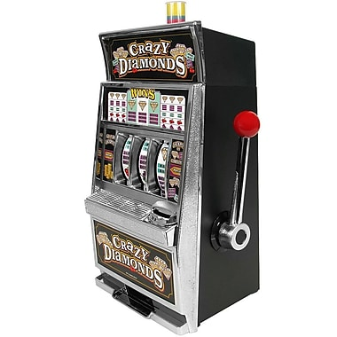 Trademark Games™ Crazy Diamonds Slot Machine Bank With 100 tokens