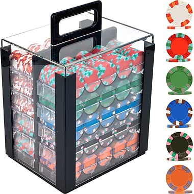 Trademark Poker™ 1000 NexGen™ PRO Classic Poker Chips With Acrylic Carrier