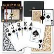 Copag Bridge Size Design Jumbo Index Card, Black/Gold