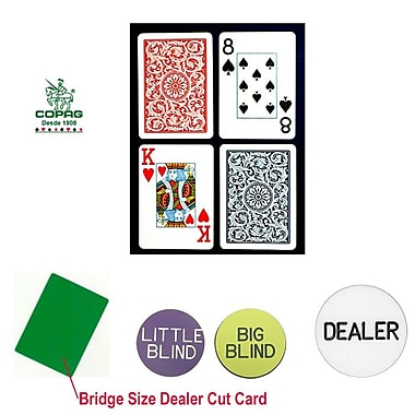 Copag Bridge Size Jumbo Index Cards and Dealer Kit