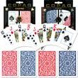 Copag Poker & Bridge Jumbo Index Card, Blue/Red