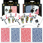 Copag Poker & Bridge Jumbo Index Card, Blue/Red