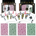 Copag Poker & Bridge Jumbo Index Card, Green/Burgundy