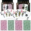 Copag Poker & Bridge Jumbo Index Card, Green/Burgundy