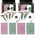 Copag Poker & Bridge Regular Index Card, Green/Burgundy