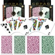 Copag Poker & Bridge Regular Index Card, Green/Burgundy