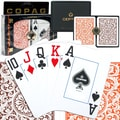 Copag Poker Size Jumbo Index Card, Orange/Brown