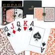 Copag Poker Size Jumbo Index Card, Orange/Brown