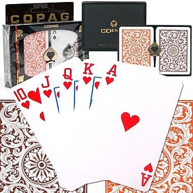 Copag Poker Size Regular Index Card, Orange/Brown