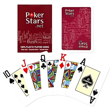 Copag Poker Size Jumbo Index Card, Red Poker Stars