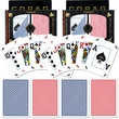 Copag Poker Size Peek Index Card, Blue/Red Set of 2