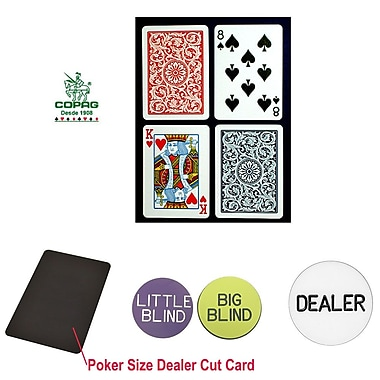 Copag Poker Size Regular Index Card and Dealer Kit
