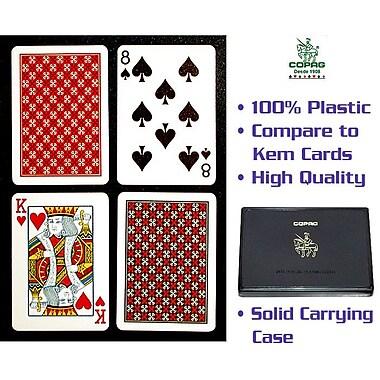 Copag Master Poker Size Regular Index Card, Red/Black