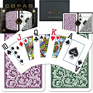 Copag Poker Size Jumbo Index Card, Purple/Grey