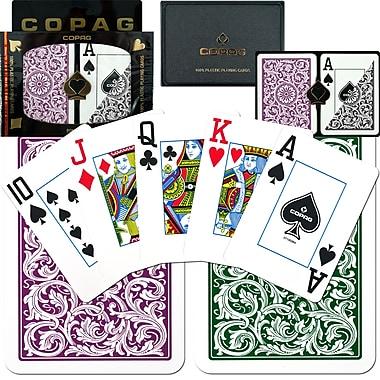 Copag Poker Size Jumbo Index Card, Purple/Grey
