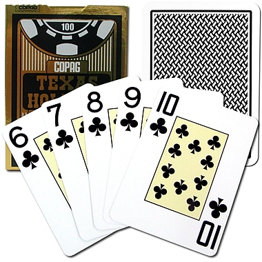 Copag Poker Size Texas Holdem Design Jumbo Index Card, Black