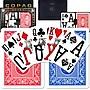 Copag Poker Size Magnum Index Card, Blue/Red