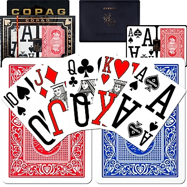 Copag Poker Size Magnum Index Card, Blue/Red