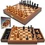 Trademark Games™ Inlaid Walnut Style Magnetized Wood With