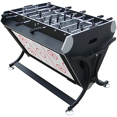 Trademark Games™ 7 in 1 Rotating Game Table, Black/Silver