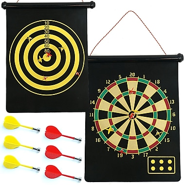 Trademark Games™ Magnetic Roll-up Dart Board and Bullseye Game With Darts
