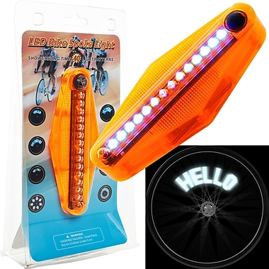 Trademark Games™ 14 LED Bike Spoke Message Light, Orange