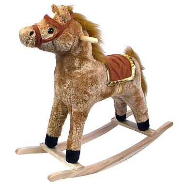 Happy Trails™ Plush Rocking Horse With Wooden Base