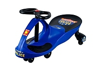Lil' Rider™ Chief Justice Police Wiggle Ride-on Car, Blue