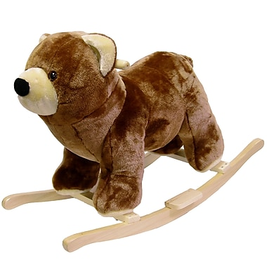 Happy Trails™ Plush Rocking Bear, Brown