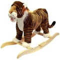 Happy Trails™ Plush Rocking Tiger, Black/Gold