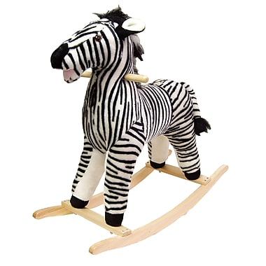 Happy Trails™ Plush Rocking Zebra, Black/White