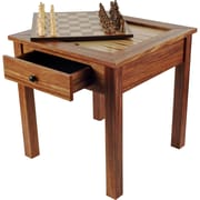 Trademark Games™ 3 in 1 Chess Backgammon Table