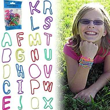 Groooovy Bandzzzz Alphabet Shaped Rubber Bands, Assorted