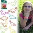 Groooovy Bandzzzz Dinosaurs Shaped Rubber Band, Assorted