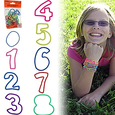 Groooovy Bandzzzz Numbers Shaped Rubber Band, Assorted