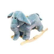 Happy Trails™ Plush Rocking Animal, Grey Elephant