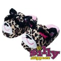 Silly Slippeez Glow in the Dark Lucky Leopard Slipper, Medium
