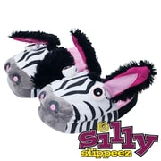 Silly Slippeez Glow in the Dark Lucky Zanny Zebra Slipper, Extra Large